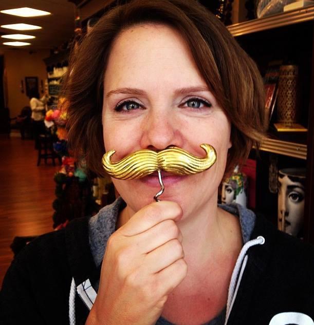 Lisa in moustache